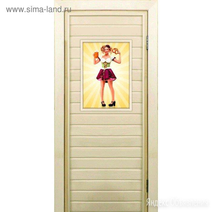 Дверь для бани со стеклом (40*60), Фройлен-2, 190×70см, коробка из осины по цене 5577₽ - Готовые строения, фото 0