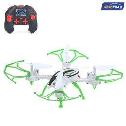Квадрокоптеры - Квадрокоптер радиоуправляемый SKYDRONE, работает от аккумулятора, цвет зелёный, 0