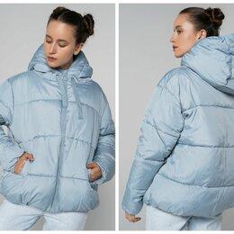 Пуховики - Новые голубые куртки оверсайз (S и XL), 0