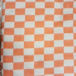 Одеяла - Одеяло байковое клетчатое оранжевое 140х205, 0