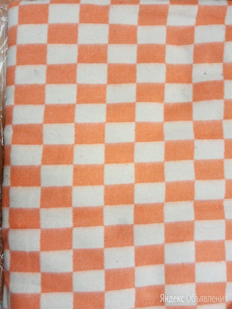 Одеяло байковое клетчатое оранжевое 140х205 по цене 850₽ - Постельное белье, фото 0