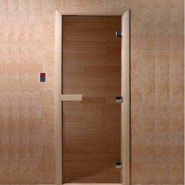 """Двери - Doorwood Дверь стеклянная """"Теплый день"""" 190*70 (бронза, коробка листва), 0"""