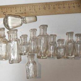 Этикетки, бутылки и пробки - Стеклянная бутылочка старинная, 0
