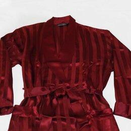 Домашняя одежда - Шикарный халат, натуральный шелк-атлас, новый, пОг-60, 0