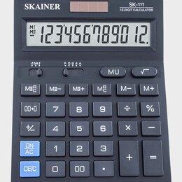 Калькуляторы - Калькулятор  настольный  Skainer SK-111  12раз., 140*176*45мм, двойное питание, , 0