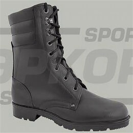 Ботинки - Ботинки Ларгос Союзник натур кожа шнуровка чёрн высота 22 см (х6), 0