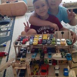 Конструкторы - Парковка для машинок конструктор деревянный, 0
