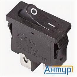 Концевые, позиционные и шарнирные выключатели - Rexant 36-2050 Выключатель клавишный 250v 6А (2с) On-off черный  Mini, 0