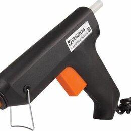 Клеевые пистолеты - Клеевой пистолет 100Вт для стержня 11мм BRAUBERG в блистере, 670325, 0