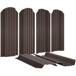 Заборы, ворота и элементы - Евроштакетник Широкий 115мм RAL8017/8017 МАТОВЫЙ Шоколад 2-х сторонний под С..., 0