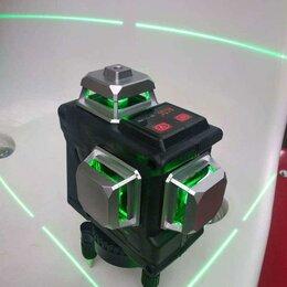 Измерительные инструменты и приборы - Лазерный уровень 12 зелёных лучей, 0