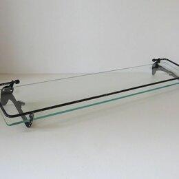 Полки, шкафчики, этажерки - Полка для ванной стекло, металл, СССР, 0