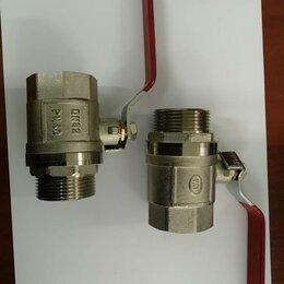 """Комплектующие водоснабжения - Кран шаровый DN32 PN40, 1 1/4"""", латунь/никель, резьба внутр./наружн., рычаг, 0"""
