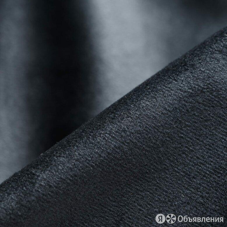 Бархат  - антрацитово-серый, Бельгия, 280 см. по цене 3091₽ - Ткани, фото 0