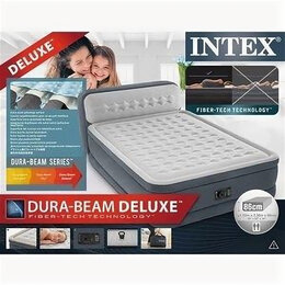 Надувная мебель - Надувная кровать intex headboard airbed 64448, 0