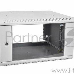 Прочее сетевое оборудование - Шкаф телекоммуникационный настенный разборный 6u  600  650  дверь стекло, 0