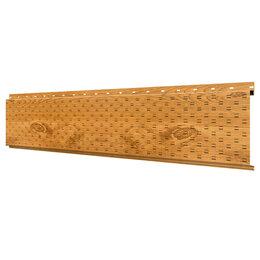 Стеновые панели - Софит, линеарная потолочно-стеновая панель ПЕРФОРИРОВАННАЯ Золотое Дерево 3D..., 0