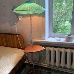 Торшеры и напольные светильники - Советский торшер напольный со столиком, 0