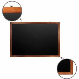 Доски - Доска для мела магнитная 100х150 см, черная,…, 0