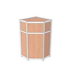 Мебель для учреждений - Прилавок рабочий угловой ПРА-01/05у, 0
