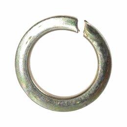 Шайбы и гайки - Оцинкованная пружинная шайба Метиз-Эксперт 20 DIN127 (100 шт.), 0