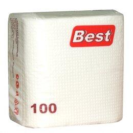 Бумажные салфетки, носовые платки - Best Салфетки BEST 100 шт/уп (белый), 0