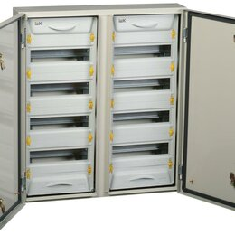 Электрические щиты и комплектующие - Корпус металлический ЩРн-2х48з-1 У2 IP54 PRO IEK MKM16-N-2X48-54-ZU, 0