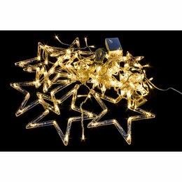 Наука и образование - Гирлянда LED бахрома 3м, 12 звёзд, цвет белый тёплый, 0