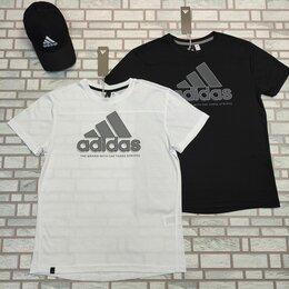 Футболки и майки - Футболка adidas перфорированная черная, белая, 0