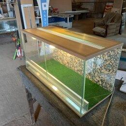 Аквариумы, террариумы, тумбы - Террариум для сухопутной черепахи на 100 литров, 0