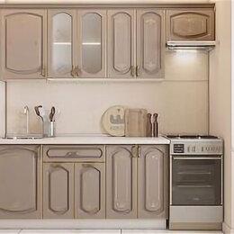 Мебель для кухни - Кухонный гарнитур Бергамо 2.2 Капучино с платиновой патиной., 0