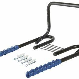 Вешалки напольные - Держатель 5-430217 вело настенный горизонт сталь складной черно-синий M-WAVE, 0