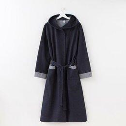 Домашняя одежда - Элиза Халат мужской, цвет синий, размер 46, 0