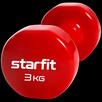 Гантель виниловая Core DB-101, 3 кг,  красный, Starfit по цене 1139₽ - Защита и экипировка, фото 1