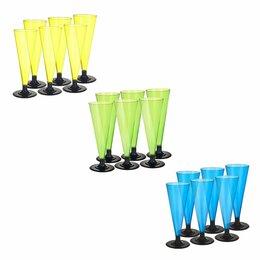 Бокалы и стаканы - Набор цветных фужеров для шампанского, 150 мл,…, 0