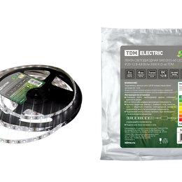 Светодиодные ленты - Лента LED 4,8Вт 12В 3000К 60LED/м IP20 SMD2835 TDM 0331-0302, 0
