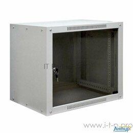 """Прочее сетевое оборудование - 19"""" Настенный шкаф Proconnect 6u 600600370 (ШxГxВ) -передняя дверь стекло бок..., 0"""