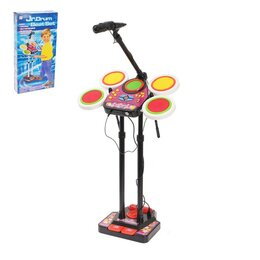 Ударные установки и инструменты - Барабанная установка «Бумбастик» с микрофоном, звуковые эффекты, 0