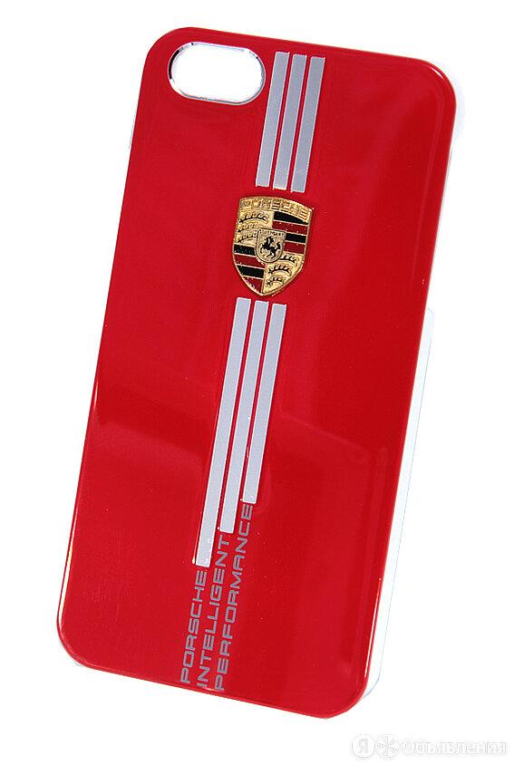 Чехол-накладка для iPhone 5/5S/SE PORSCHE металл/пластик красный по цене 140₽ - Защитные пленки и стекла, фото 0