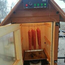 Грили, мангалы, коптильни - Коптильня холодного копчения и горячего копчения, 0