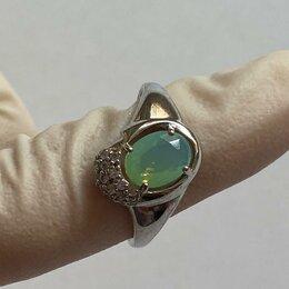 Кольца и перстни - Кольцо серебряное с кварцем зеленым , 0