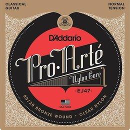 Струны - EJ47 D`Addario PRO ARTE Струны для классической гитары нейлоновые Normal, 0