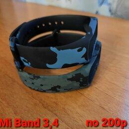 Ремешки для умных часов - Ремешок для xiaomi mi band 3,4 камуфляж, 0