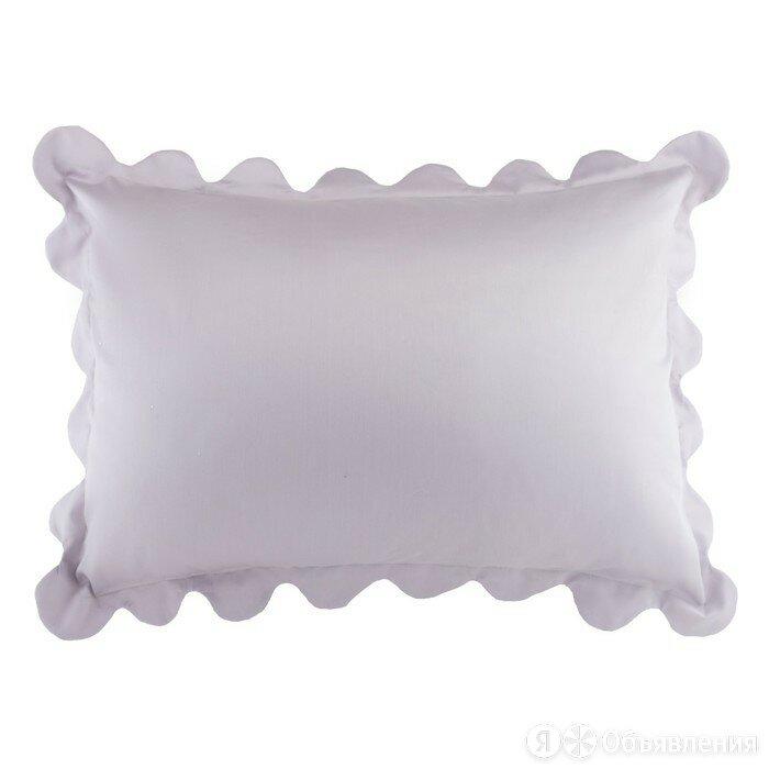 Наволочка Этель с рюшами цв.серый, 50*70 см, сатин, хлопок 100 % по цене 620₽ - Постельное белье, фото 0