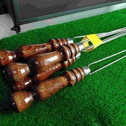 Шампуры - Шампур для грибов и овощей с деревянной ручкой, 50 см, 0
