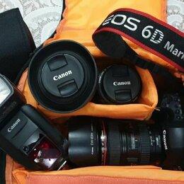 Фотоаппараты - Фотоаппарат Canon 6D mark II с объективами и вспышкой, 0