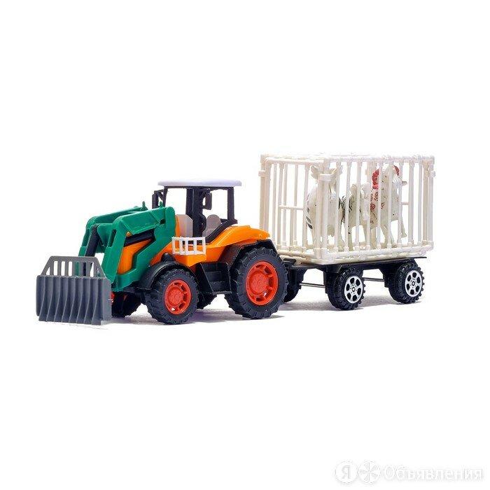 Трактор инерционный «Фермер», с прицепом и животными, МИКС по цене 733₽ - Машинки и техника, фото 0