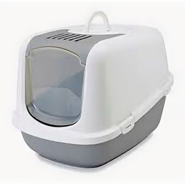 Туалеты и аксессуары  - SAVIC Туалет-домик д/кошек NESTOR серый 56*39*38,5 см S0227 , 0