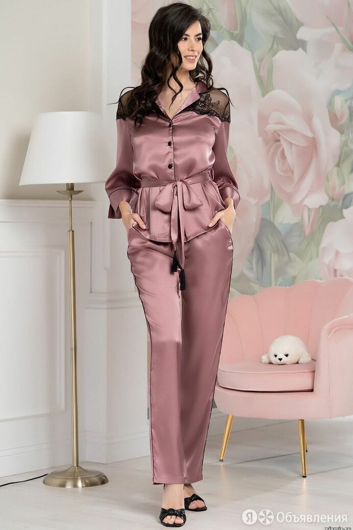 Mia&Mia Шелковый пижамный комплект Olivia по цене 6016₽ - Домашняя одежда, фото 0
