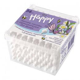 Ватные палочки и диски - Bella baby Happy Ватные палочки для детей с ограничителем с экстрактом ромашк..., 0